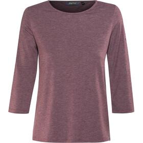Meru Skara Langærmet T-shirt Damer, crushed violet melange